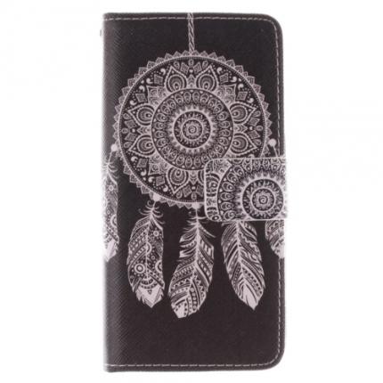 Etui portefeuille Samsung Galaxy S6 Attrape rêve noir