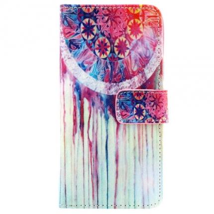 Etui portefeuille Samsung Galaxy S5 Attrape rêve rose