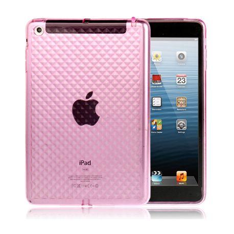 Coque Ipad mini 1/2/3 rose transparent
