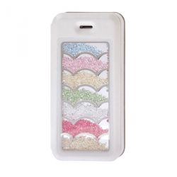 Etui portefeuille Iphone 5 / 5S strass nuage
