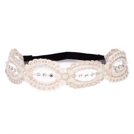 Headband dentelle blanc - Headband Mariage
