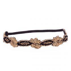 Headband dorée perle - Headband Fleurs