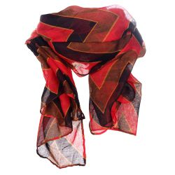 Foulard chevron bordeau