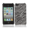 Coque Iphone 4 / 4S Noire vague paillette
