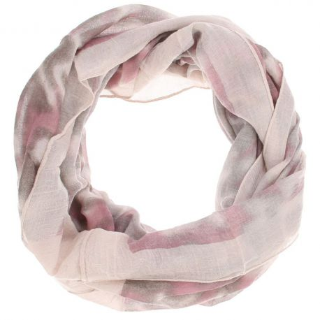 Echarpe tube femme tie and dye rose