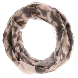 Echarpe tube femme tie and dye taupe