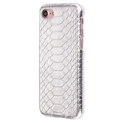 Coque Iphone 7 croco argent