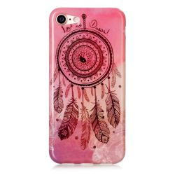 Coque Iphone 7 silicone rose attrape rêve