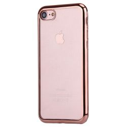 Coque Iphone 7 silicone transparente et rose gold