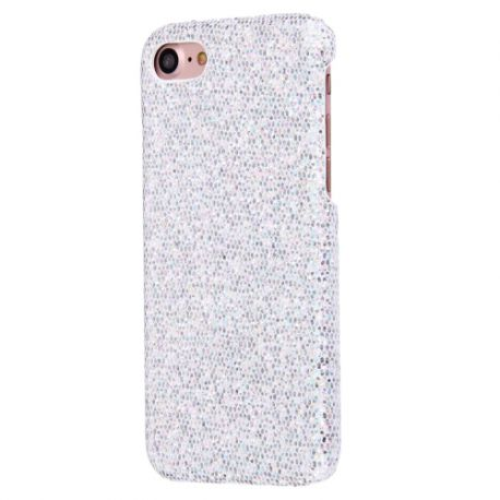 Coque Iphone 7 paillette argent