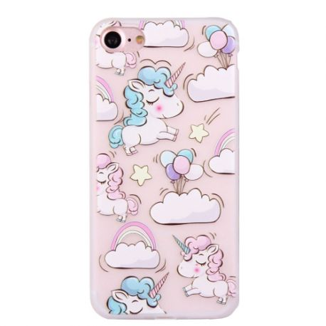 Coque Iphone 7 silicone licorne