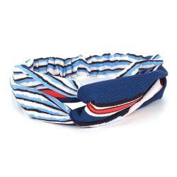 Bandeau Turban Bleu et Rouge - Bandeau Cheveux