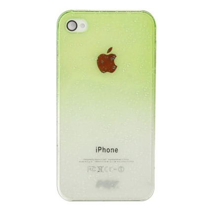 Coque Iphone 4 / 4S Dégradé vert transparente