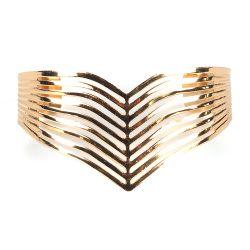 Bracelet Manchette Doré - Bracelet Femme