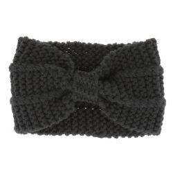 Bandeau turban maille noir - Bandeau Tricot