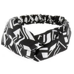 Bandeau Turban Graphique Noir et Blanc - Bandeau Cheveux