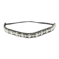 Headband Perles Fleurs Blanches - Headband Mariage