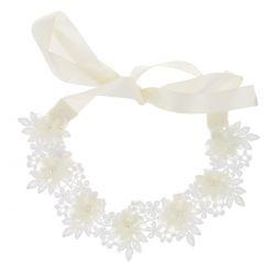 Headband Mariage Ruban Blanc - Headband Dentelle