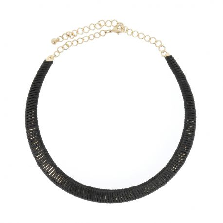 Collier Ras de Cou Noir - Collier Court