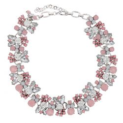 Collier Plastron Strass Rose - Collier Mariage
