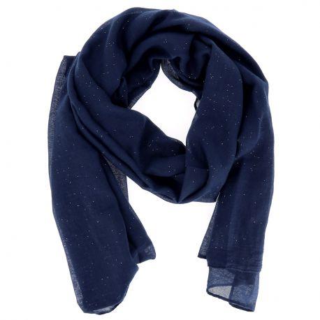 Foulard Bleu marine Paillette - Foulard Femme