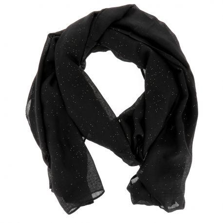 Foulard Noir Paillette - Foulard Femme