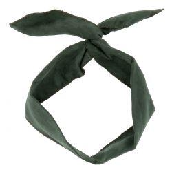 Bandeau à Nouer Suédine Vert - Accessoire Cheveux - Bandeau Cheveux