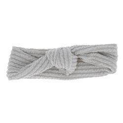 Bandeau Noué Côtelé Gris clair - Bandeau Cheveux - Headband
