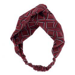 Bandeau Turban Motif Bordeaux - Bandeau Cheveux - Headband
