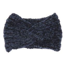 Bandeau Maille Chenille Bleu gris - Bandeau Tricot