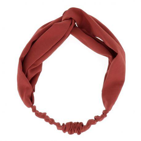 Bandeau Noeud Orange Rouille - Headband Noeud