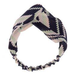 Bandeau Torsadé Voile Ethnique - Headband Ethnique