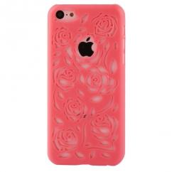 Coque Iphone 5C Corail sculptures fleurs