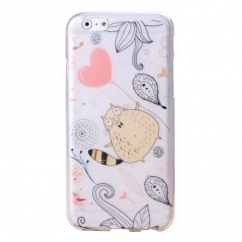Coque Iphone 6 Nacré motif chat