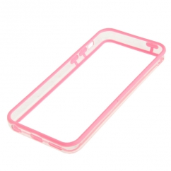 Bumper Iphone 5C Transparent et Rose