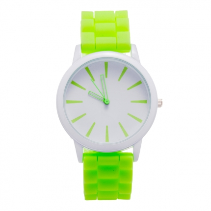Montre silicone vert pomme