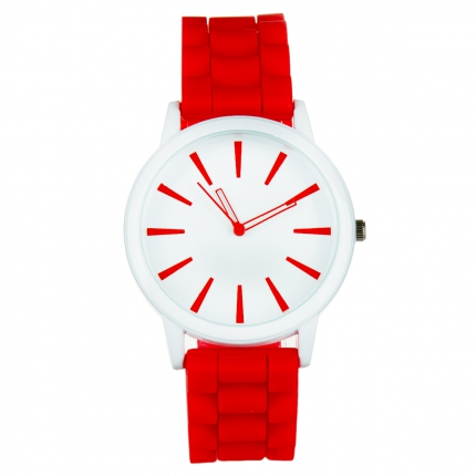 Montre silicone rouge