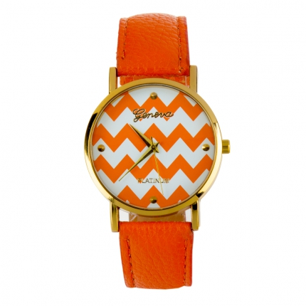 Montre orange Chevron